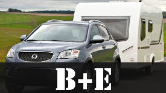 B+E - Osobní auto+vlek